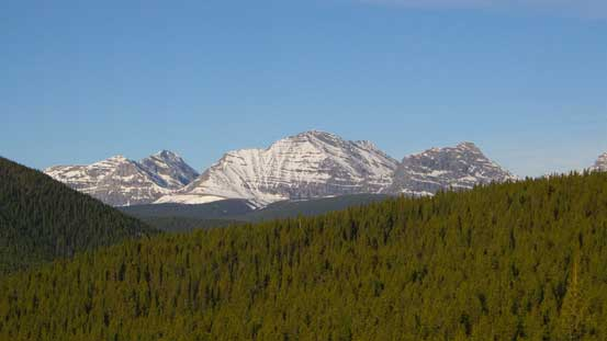 A view towards High Rock Range on the Continental Divide