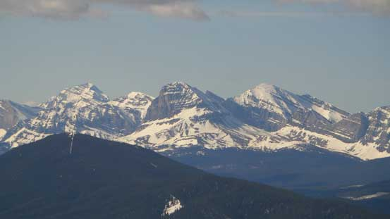 Tornado Mountain and Beehive Mountain