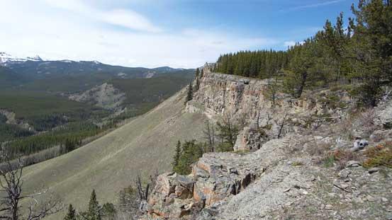Cresting the ridge, looking ahead