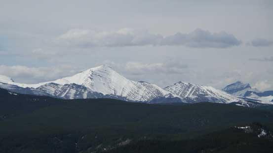 Mount Glasgow is still snowy