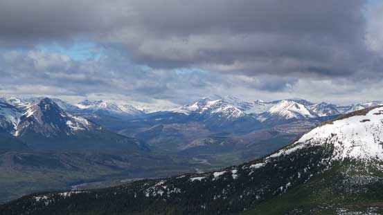 Peaks buried deeply in Willmore Wilderness
