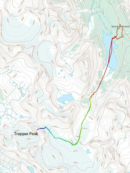 Trapper Peak ski ascent route