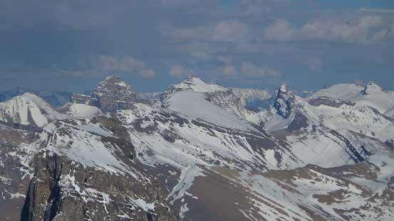 The three peaks of Whitegoat Peaks