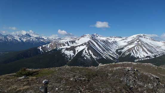 Whirlpool Ridge and Two O'Clock Ridge from the first summit