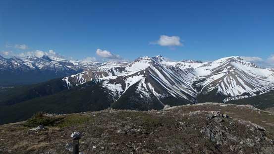 Whirlpool Ridge and Two O'Clock Ridge from the first summit