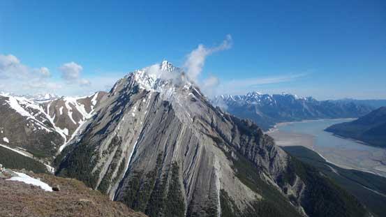 Elliot Peak was almost free of clouds
