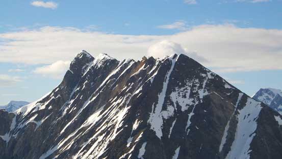 A closer look at Cheops' summit ridge