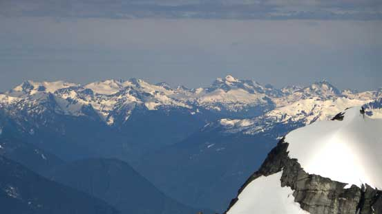 Zooming-in towards Revelstoke area, Mt. Begbie right of center in the Monashees