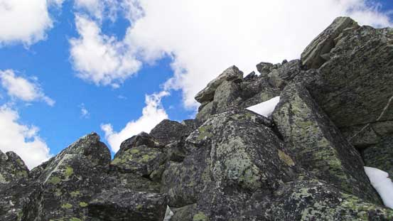 Scrambling blocky terrain