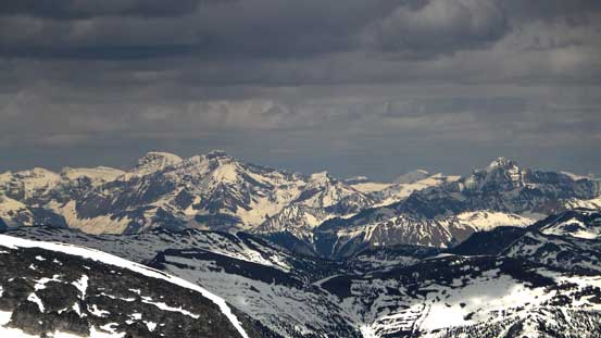 Mt. Mummery and Mt. Laussedat in the Rockies