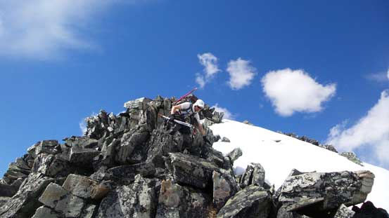 Descending from the false summit