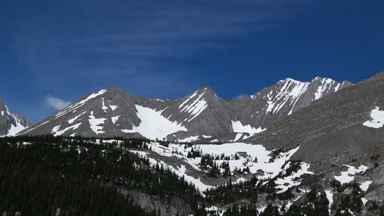 Mt. Lyautey has many sub peaks.