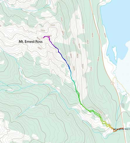 Mt. Ernest Ross scramble route