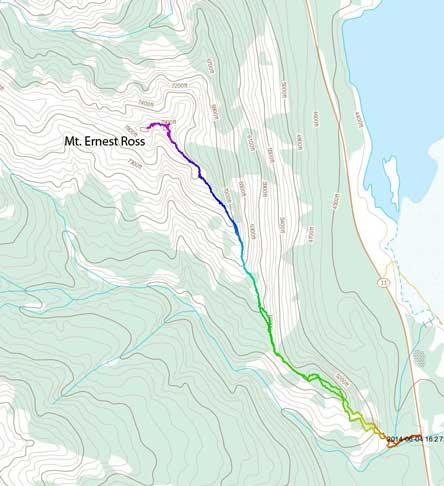 Mt. Ernest Ross scramble route