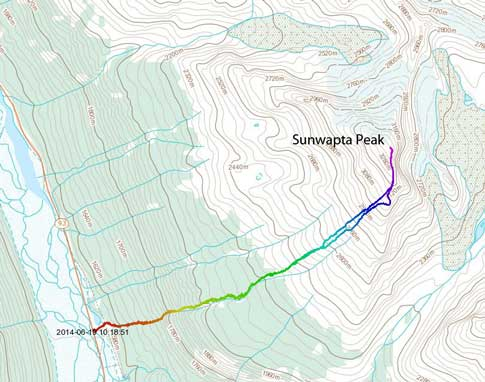 Sunwapta Peak standard scramble route