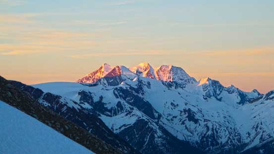 Alpenglow on Mt. Dawson