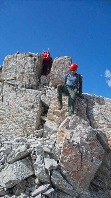 A bit of down-climbing