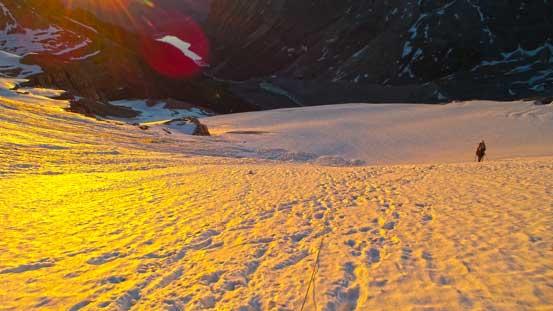Ben ascending Victoria Glacier