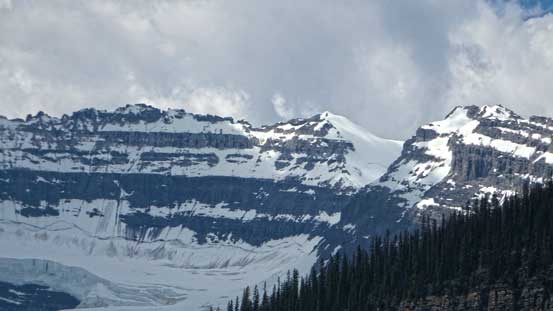 Looking back towards the summit from Lake Louise