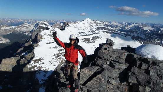Me on the summit of Mt. Lefroy, my 13th 11,000er