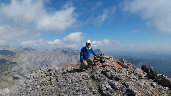 Me on the summit of Goat Mountain, my 300th summit