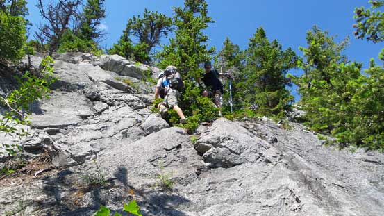 Off-route scrambling