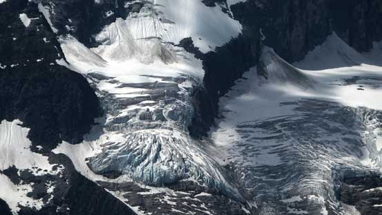Fractured glacier at the base of Sir Donald