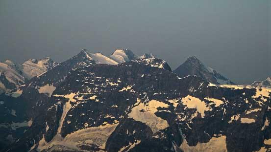 Mount Dawson rises behind Mount Macoun