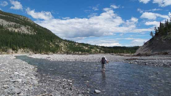 Ben fording Ghost River