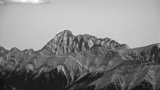 A zoomed-in view of Mt. Aeolus on Bosche Range