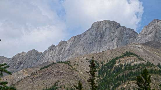 A look at the summit - pretty rocky.
