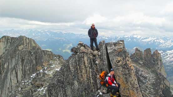 Ben on the summit of Crescent Spire