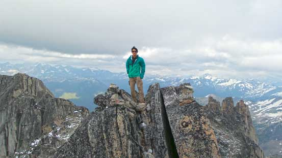 Me on the summit of Crescent Spire