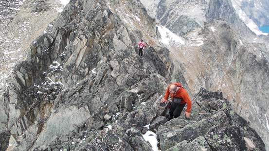 Typical scrambling on this ridge. Fun on solid rocks!