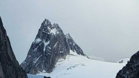 There looks to have a lot of fresh snow and ice on Pigeon Spire