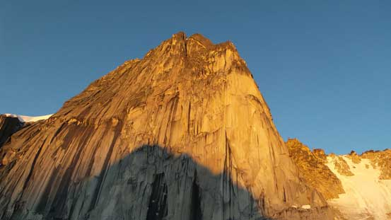 The N. Face of Snowpatch Spire. There's some big wall projects on this face!