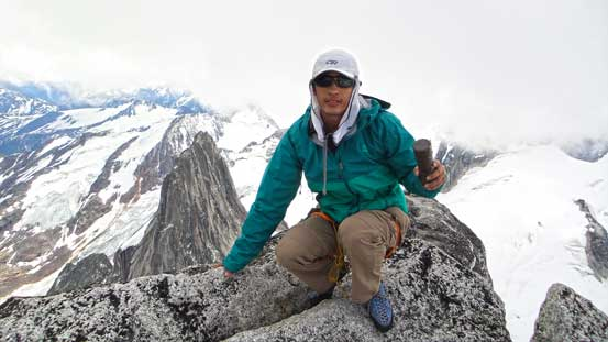 Me on the summit of Bugaboo Spire!!