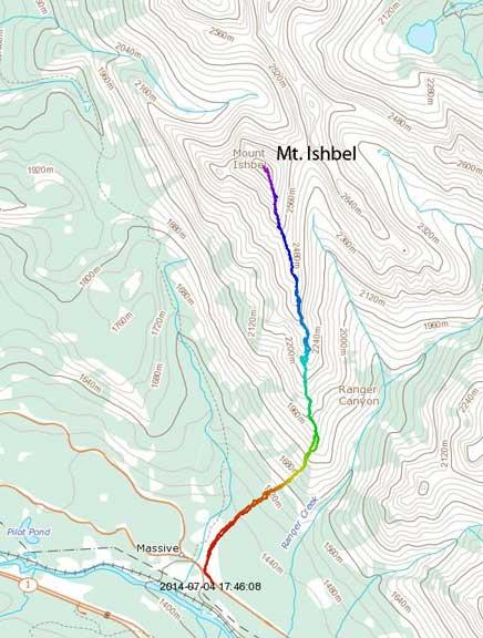 Mt. Ishbel standard scramble route