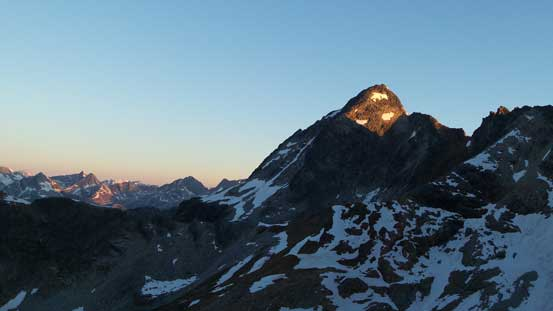Alpenglow on Eagle Peak