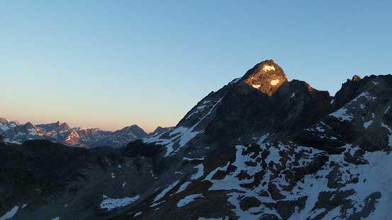 Alpenglow on Eagle Peak