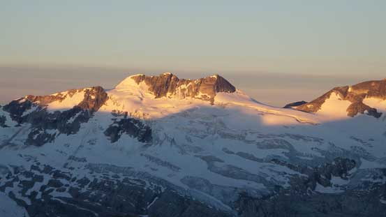 Mt. Jupitor massif - Leda, Pollux and Custer Peaks from L to R