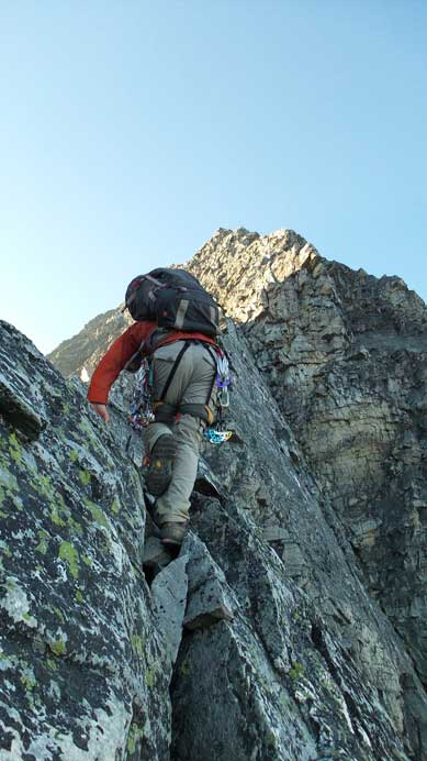 Ben starting the ridge.