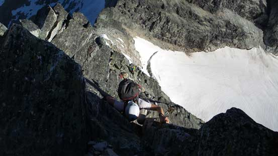 Typical climbing on the lower 1/3