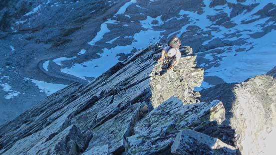 Exposed ridge climb.