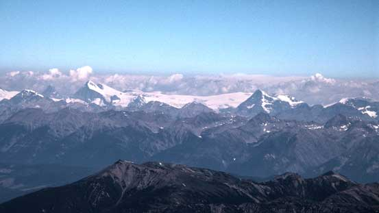 The stretch of Columbia Icefield, and Mt. Columbia, Mt. Bryce