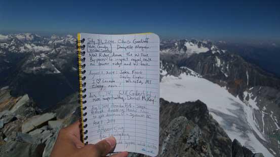 The summit register!