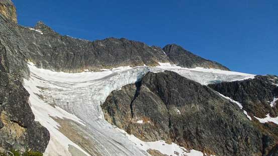 Glaciers hanging below Terminal Peak