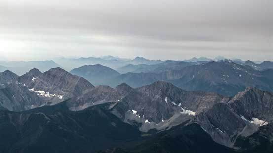 A sea of peaks in BC. Mt. Harrison was barely visible