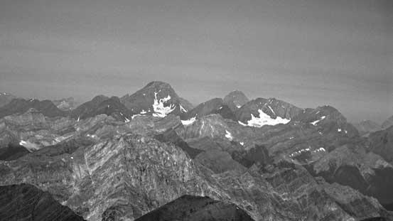 Mt. Sir Douglas and Mt. Assiniboine (behind)