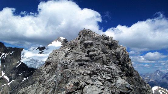 On the summit ridge now